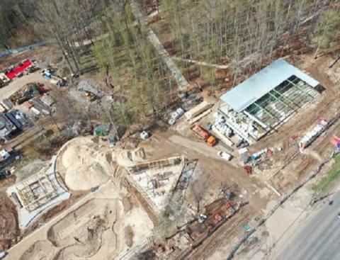 Благоустройство парка «Швейцария» в Нижнем Новгороде сняли с квадрокоптера