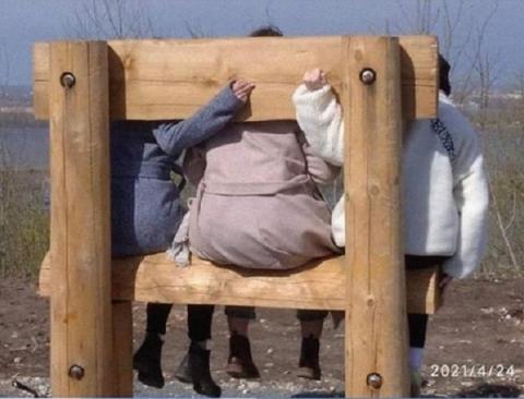 Россияне посмеялись над необычными скамейками у нижегородской канатной дороги