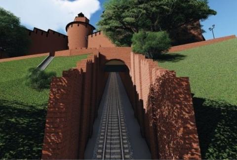 Склоны нижегородского кремля готовят к строительству фуникулера