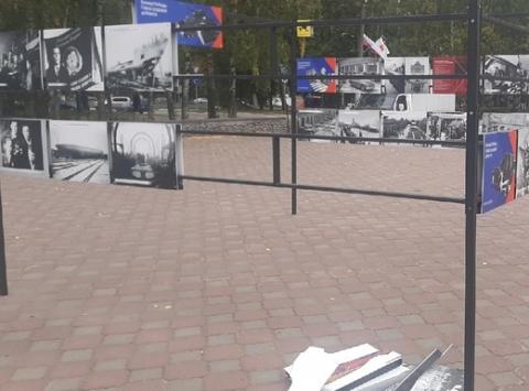 Поврежденная вандалами нижегородская выставка в честь победы в ВОВ будет перенесена