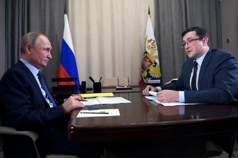 Глеб Никитин доложил Путину о ситуации с коронавирусом в Нижегородской области