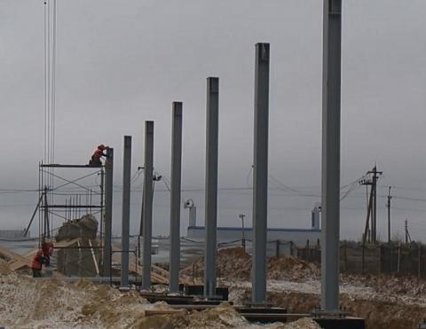 Строительство крытого катка в поселке Ковернино отстает от графика