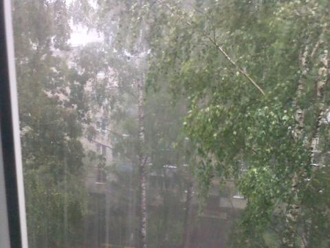 Дождь с градом обрушился на Сормово 25 июня