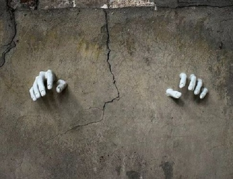 Новый стрит-арт «с руками» уничтожили в центре Нижнего Новгорода