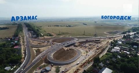 Ход строительства нижегородской развязки в Ольгине сняли с квадрокоптера