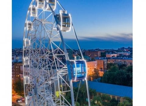 Пермские предприниматели открыли колесо обозрения в Нижнем Новгороде