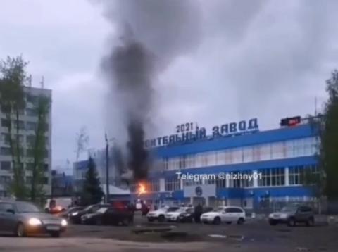 Пожар произошел в здании Арзамасского машиностроительного завода 9 мая