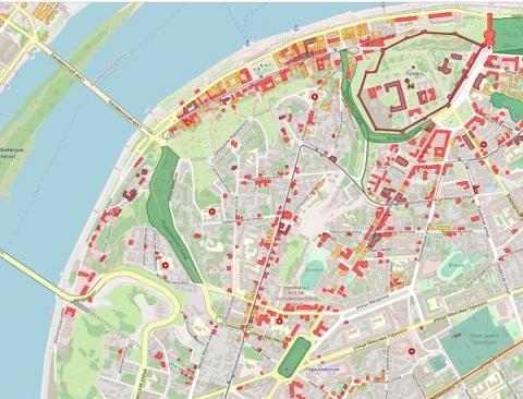 Сведения о нижегородских ОКН разместили на геопортале