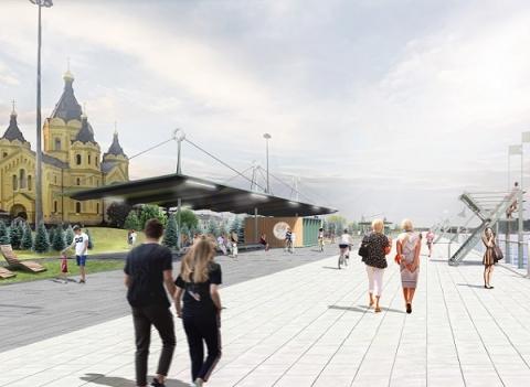 Благоустройство Окской набережной в Нижнем Новгороде завершат в августе