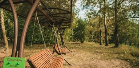 Панорамные качели по эскизу девятилетнего нижегородца установили в парке «Швейцария»