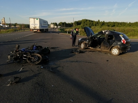 Появились подробности смертельного ДТП с мотоциклом на М-7 в Лысковском районе