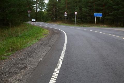Экспериментальная разметка появилась на Московском шоссе в Нижнем Новгороде