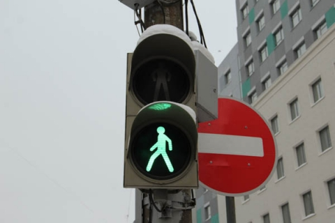 Новый светофор на площади Горького заработает с 20 сентября
