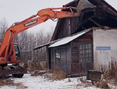 В Нижнем Новгороде снесли три аварийных дома за 638 тысяч рублей