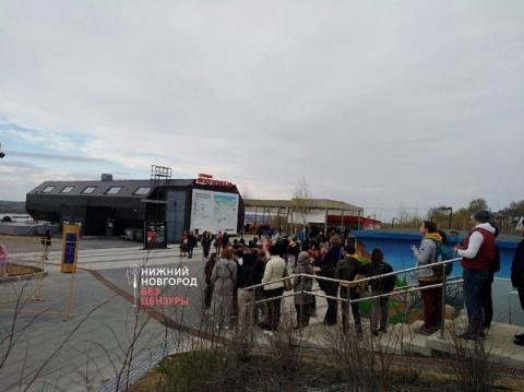 Огромная очередь выстроилась у Нижегородской канатной дороги 4 мая