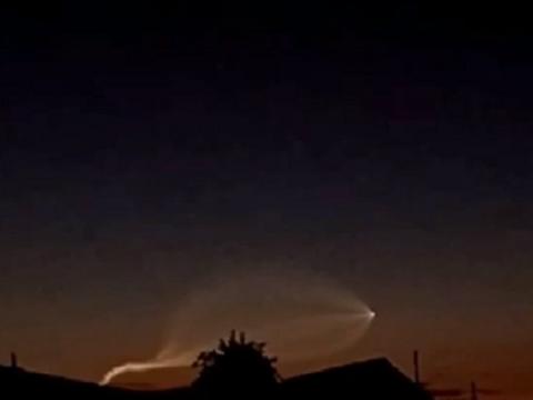 Необычный светящийся объект заметили в небе над Нижним Новгородом