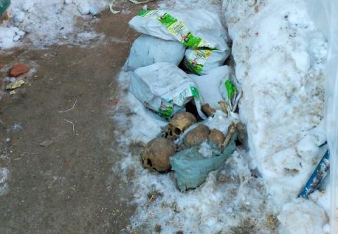 Человеческие останки в мешках обнаружили у строящейся церкви в Нижегородском кремле