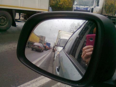 Длина пробки у Борского моста в Нижнем Новгороде сократилась в 5 раз