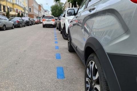Платные парковки в Нижнем Новгороде обозначат синей разметкой
