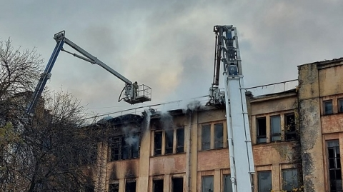 ДК Ленина загорелся в Нижнем Новгороде в ночь на 3 октября
