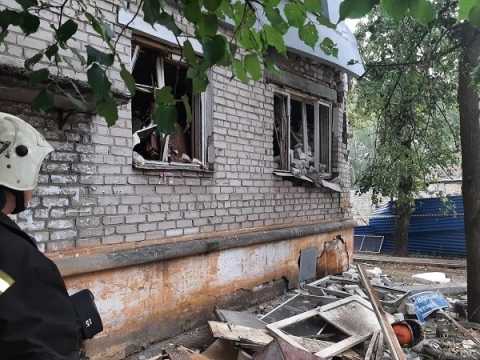 Появились фото с места взрыва газа на Светлоярской в Нижнем Новгороде