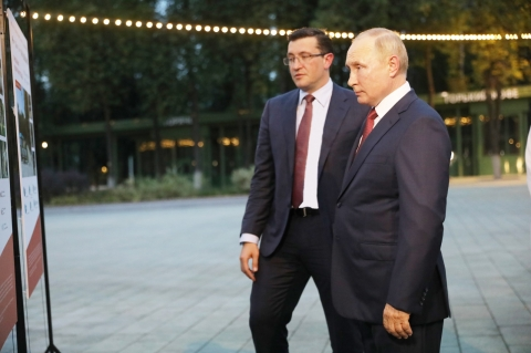 Владимиру Путину показали обновленный парк «Швейцария» в Нижнем Новгороде