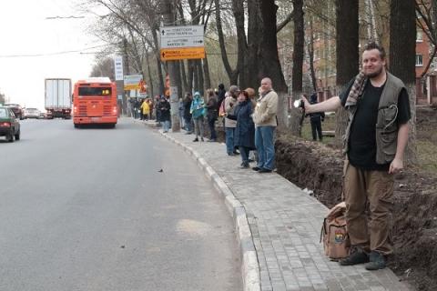 Живая цепь выстроилась у парка «Швейцария» в Нижнем Новгороде» в 42-й раз