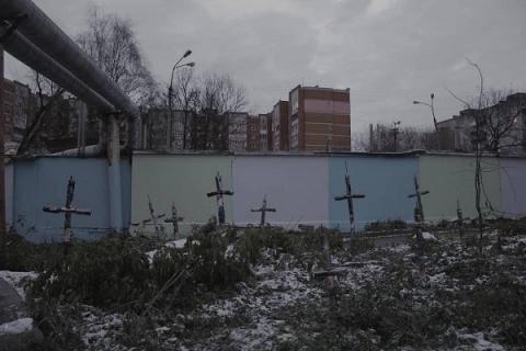 Нижегородский художник превратил стадион «Водник» в кладбище