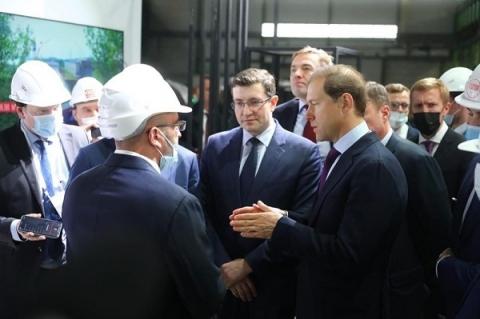 Денису Мантурову представили проекты нижегородского предприятия «Красное Сормово»