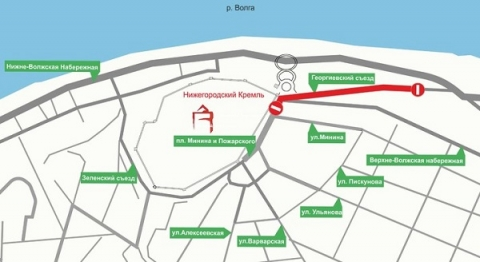Площадь Минина в Нижнем Новгороде частично перекроют до 26 августа