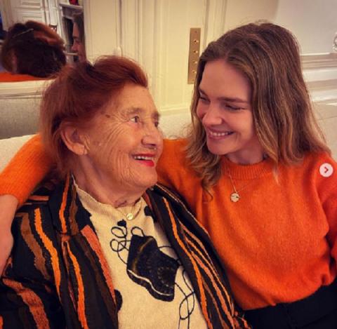 Наталья Водянова показала бабушку-модель