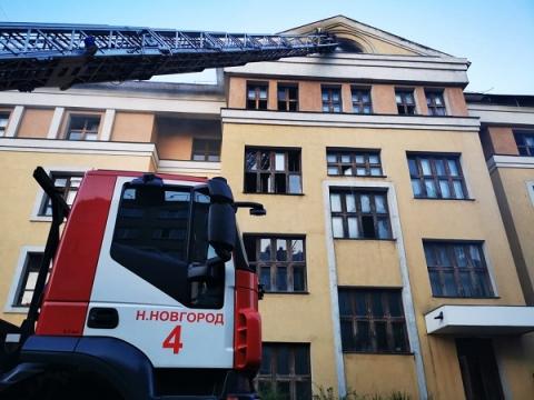 Опубликованы фото пожара в общежитии нижегородского медуниверситета