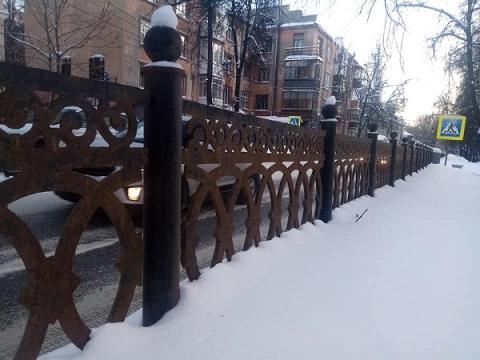 Чугунную ограду украли из сквера на Звездинке в Нижнем Новгороде