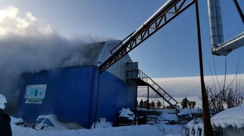 Опубликованы фото пожара бывшего мясокомбината в Нижнем Новгороде